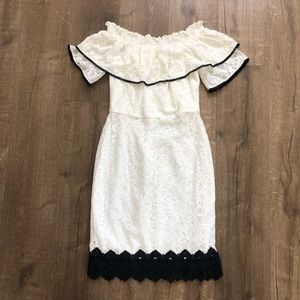Adelyn Rae White Off The Sholder Lace Dress